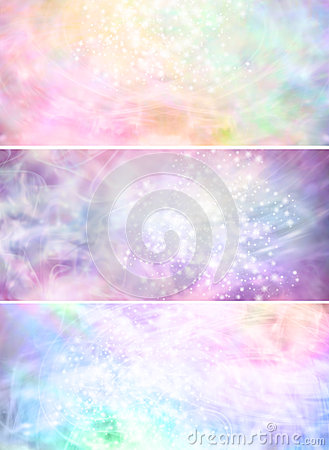3d Snow Falling Wallpaper Misty Sparkling Pastel Colored Background Banners X 3