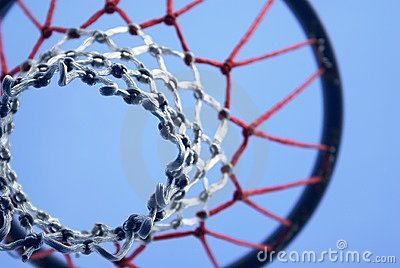 Abstract 3d Wallpaper White Netball Net And Hoop Stock Image Image 2484101