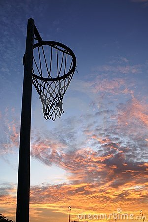 Travel Wallpaper Quotes Netball Net And Sunset Stock Photos Image 1391893