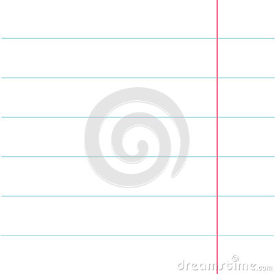 Notebook Paper Texture Lined Page Template Red Line Blank Sheet Of