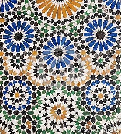 Old Islamic Mosaic Royalty Free Stock Image Image 19081986