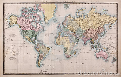 World Political Map Hd Wallpaper Old World Map On Mercators Projection Royalty Free Stock