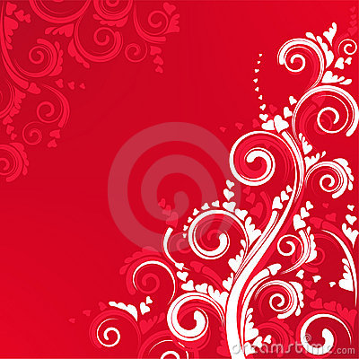 White Flower Wallpaper 3d Ornate Scroll Floral Design In Red Color Stock Photography