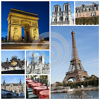 3d Graphics Wallpaper Free Download Paris Collage Royalty Free Stock Photo Image 28235055