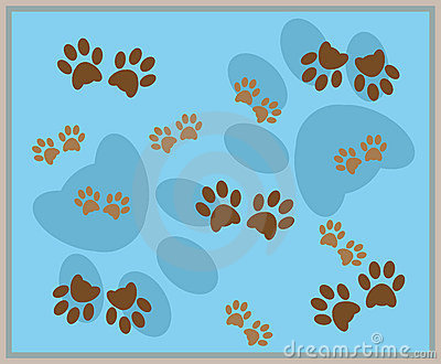 Cute Baby Animals Wallpaper Icon Paw Print Background Royalty Free Stock Photography