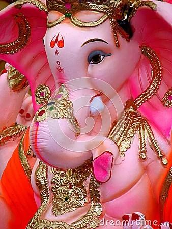 Cute Elephant Design Wallpaper Pink Ganesh Stock Photography Image 5788082