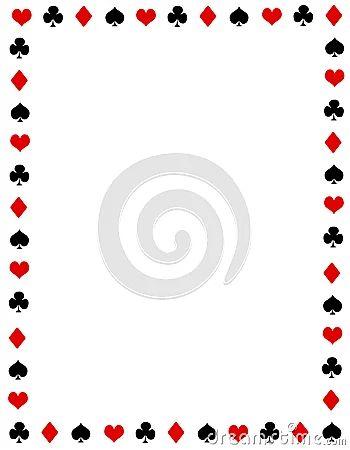 Poker border frame royalty free stock photo image