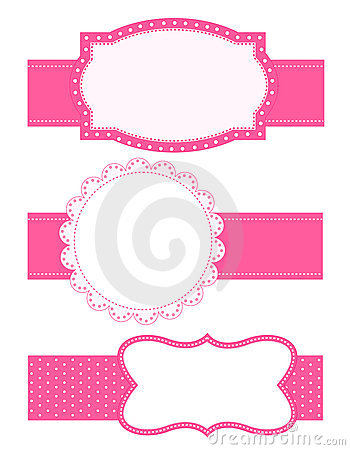 Baby Girl Wallpaper Borders Pink And Purple Polka Dot Background Frame Stock Photos Image 22689883