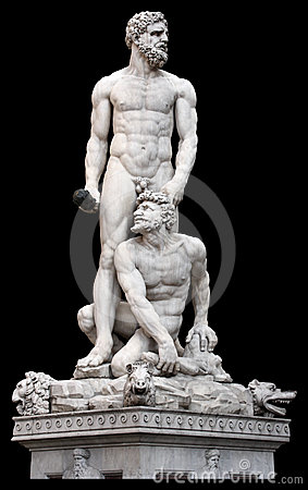 Abstract Art 3d Wallpaper Poseidon Statue Florence Italy Royalty Free Stock Photos