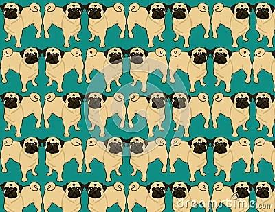 Cute Bunny Wallpaper Cartoon Pug Wallpaper Royalty Free Stock Photo Image 7284945