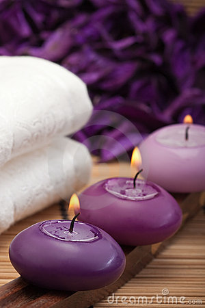 Farm Girl Wallpaper Purple Spa Relaxation 1 Royalty Free Stock Images