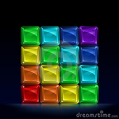 3d Abstract Rainbow Wallpaper Rainbow Colored Glass Cubes Royalty Free Stock Photos