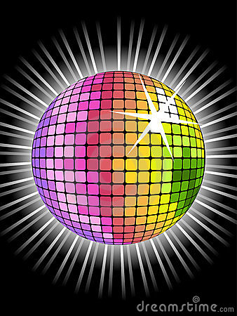 3d Wallpaper Picture Download Rainbow Disco Ball Stock Photo Image 9787090