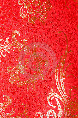 3d Modern Wallpaper Designs Red Traditional Chinese Silk Dress Stock Photography