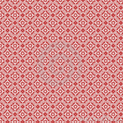 3d Damask Wallpaper Red And White Vintage Damask Repeat Pattern Royalty Free