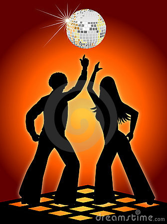 Wallpaper 3d Animation Free Download Retro Disco Dancers Orange Royalty Free Stock Photos