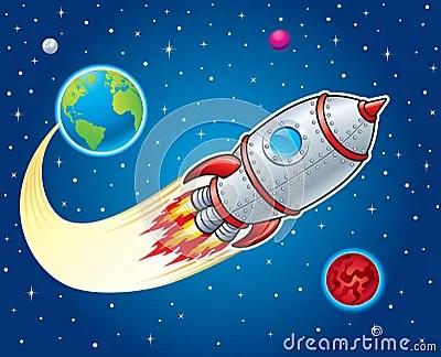 Earth Animated Wallpaper Rocket Ship Blasting From Earth Stock Illustration Image
