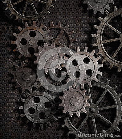 3d Animation Wallpaper For Pc Download Rusty Gears And Cogs Metal Background Royalty Free Stock