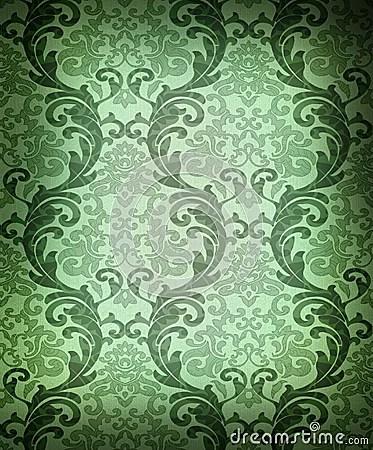 Iphone X Wallpaper With Border Download Dark Green Damask Wallpaper Gallery