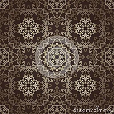 3d Tiles Wallpaper Seamless Wallpaper Islamic Motif Background Stock Vector