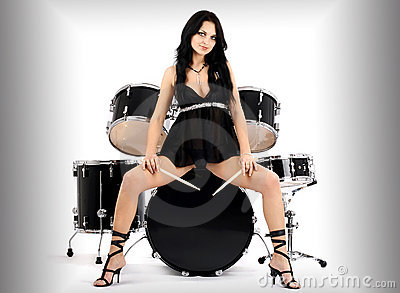 Rock N Roll Wallpaper For Girls Sexy Rock N Roll Royalty Free Stock Image Image 8061586