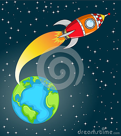 3d Wallpaper For Galaxy Y Space Rocket Leaving The Earth Stock Photos Image 30578263