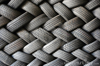 Car Tire Wallpaper Stacked Tires In A Pattern Royalty Free Stock Photo