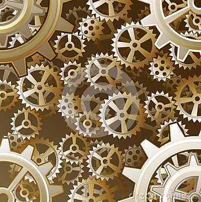 Free Wallpaper Cartoon 3d Steampunk Gears Background Royalty Free Stock Images