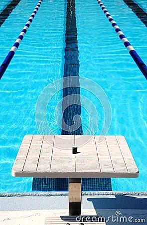 Download Wallpaper 3d Swimming Lane And Start Block Stock Photography Image