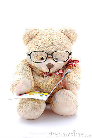 3d Wallpaper For Drawing Room Teddy Bear Reading Royalty Free Stock Image Image 8201636