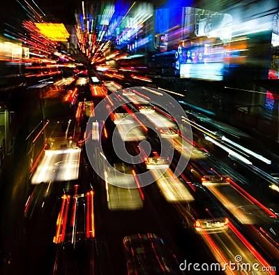 Car Lights Night Wallpaper Traffic Lights In Motion Blur Stock Image Image 7892711
