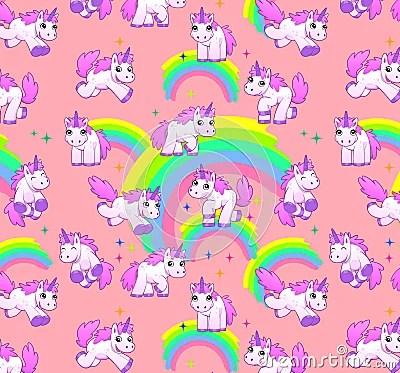 Princess Wallpaper Cute Pattern Unicorn Pattern Pink Stock Illustration Image 39768626