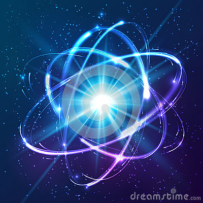 Iphone Wallpaper Chemistry Vector Shining Neon Lights Atom Model Stock Vector Image