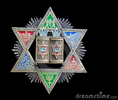 3d Stone Wallpaper For Walls Vintage Colorful Magen David Star Of David Royalty Free