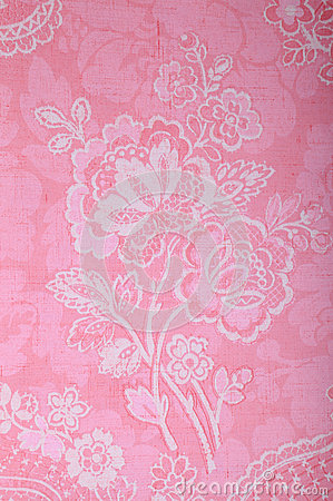 3d Nature Wallpaper For Wall Vintage Pink Wallpaper With Victorian Pattern Royalty Free