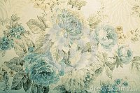 Vintage Wallpaper With Blue Floral Victorian Pattern Stock ...
