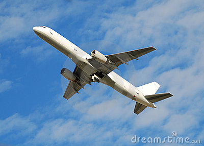 Audio Car Wallpaper Download White Jet Airplane Flying Overhead Royalty Free Stock