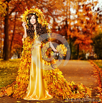 Central Park In Fall Wallpaper Woman Autumn Fashion Portrait Fall Leaves Model Girl