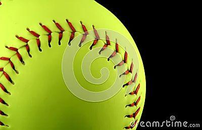 Yellow softball royalty free stock images image 495849