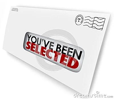 You've Been Selected Words Envelope Letter Official Notification Stock Illustration - Image ...