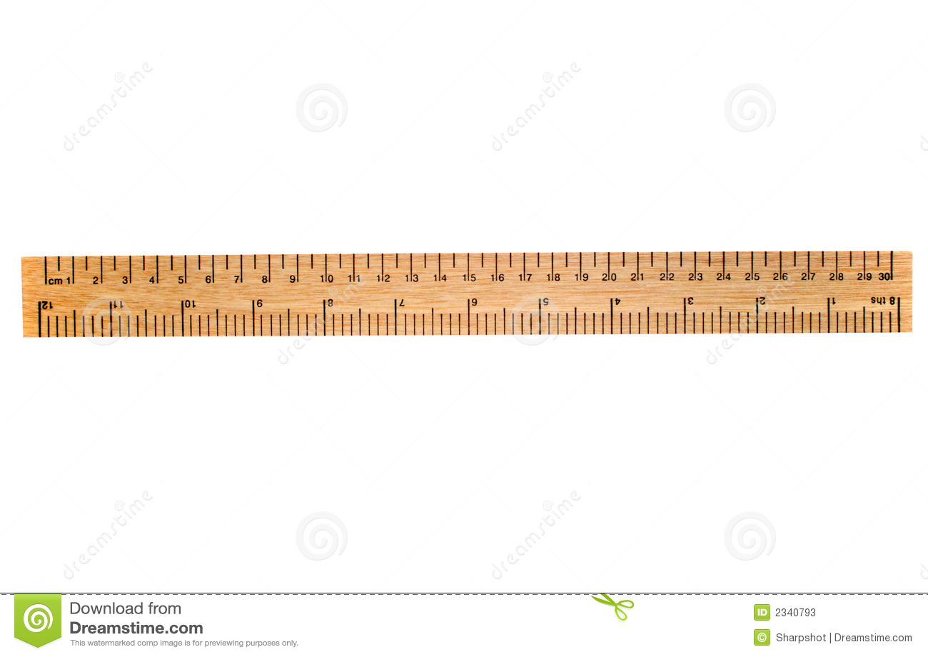 30cm A 30 Cm Wooden Ruler Stock Photos Image 2340793
