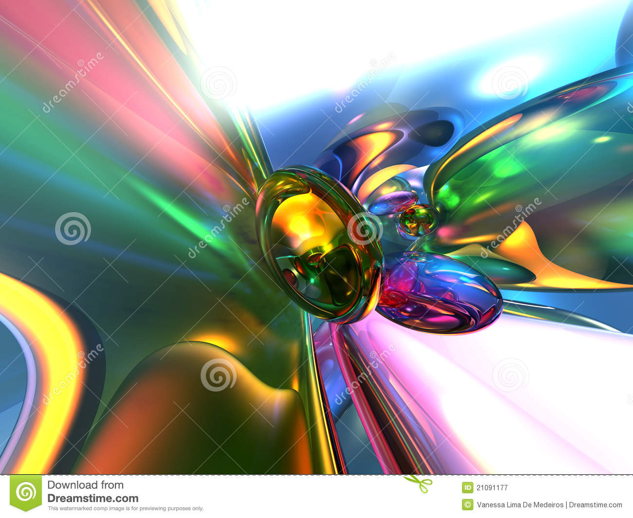 Abstract background colorful glassy render wallpaper