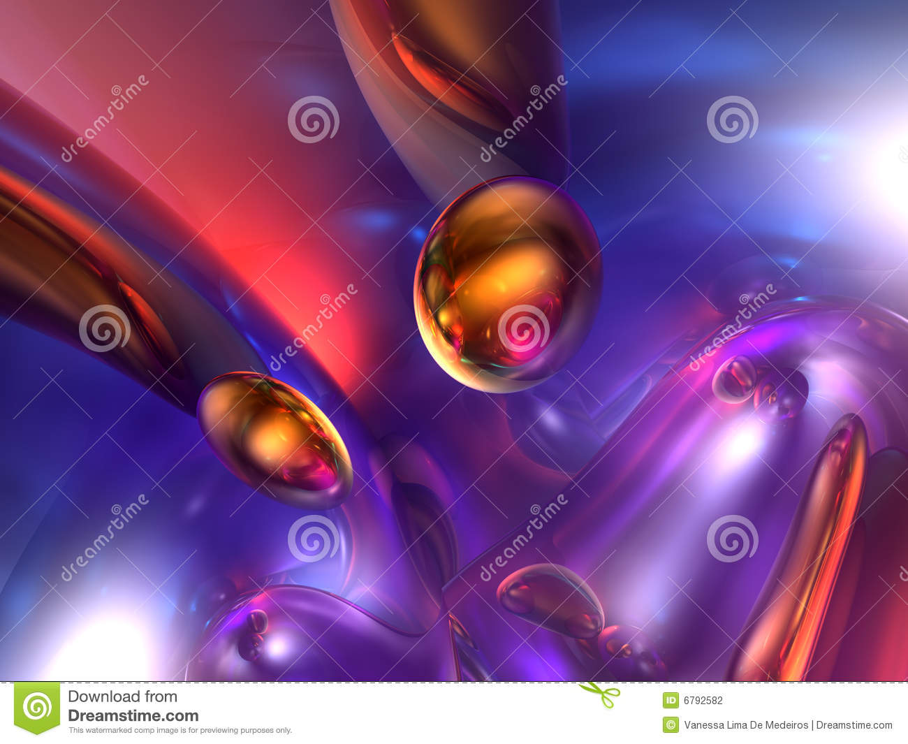 3d Liquid Abstract Wallpaper 3d Abstract Purple Red Orange Color Glossy Render Stock