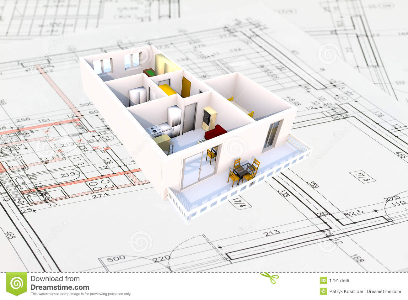Plan Architecte 3d 3d Apartment Plan Stock Illustration Illustration Of Discovery