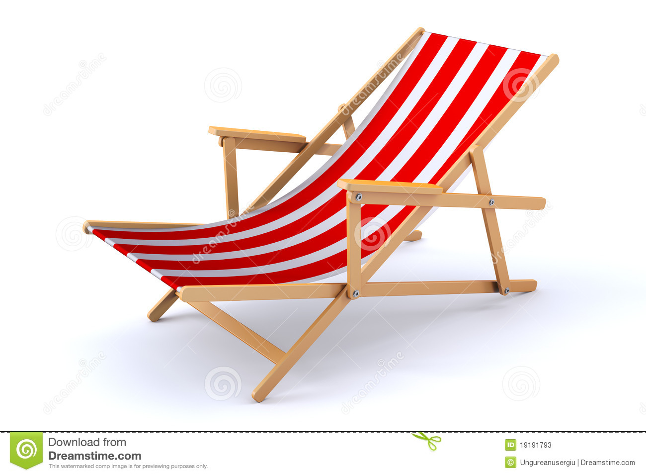 Clipart Liegestuhl 3d Beach Chair Stock Photos Image 19191793