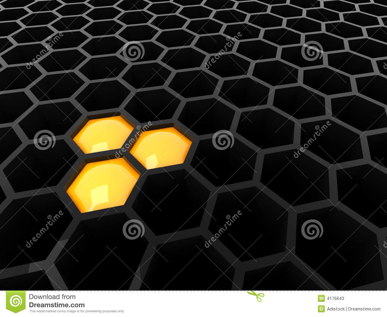 Hexagon Wallpaper 3d 3d Black Tech Honeycomb Stock Photos Image 4176643