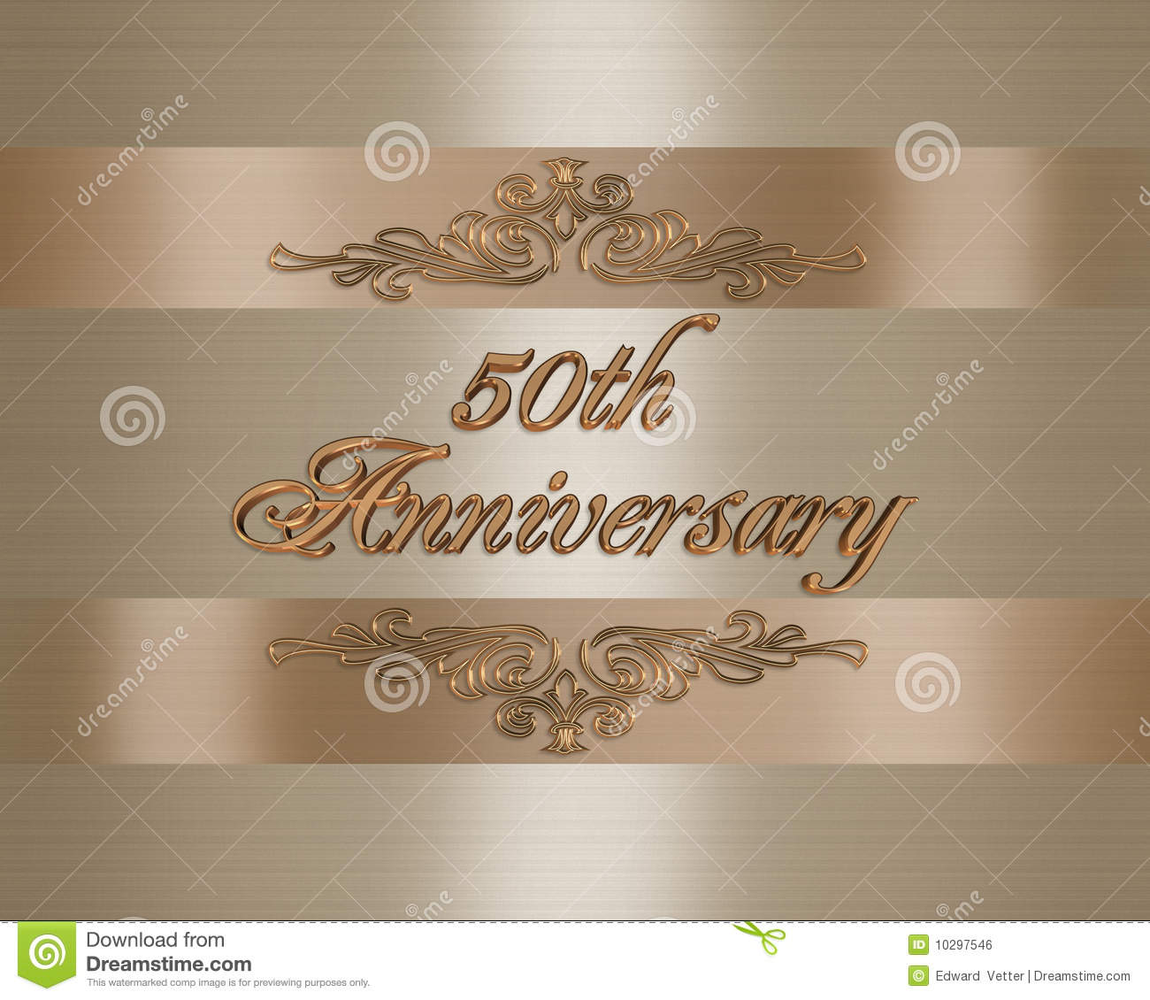 stock photography 50th wedding anniversary invitation image 50th wedding anniversary invitations 50th wedding Anniversary invitation Royalty Free Stock Image