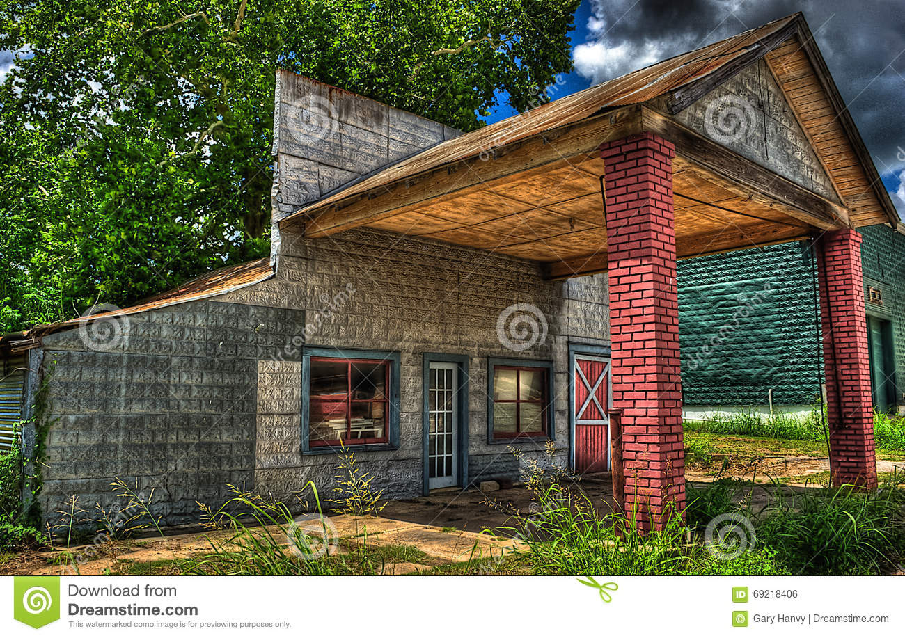 Old Time Car Wallpaper Abandoned Gas Station Burton Texas Stock Photo Image