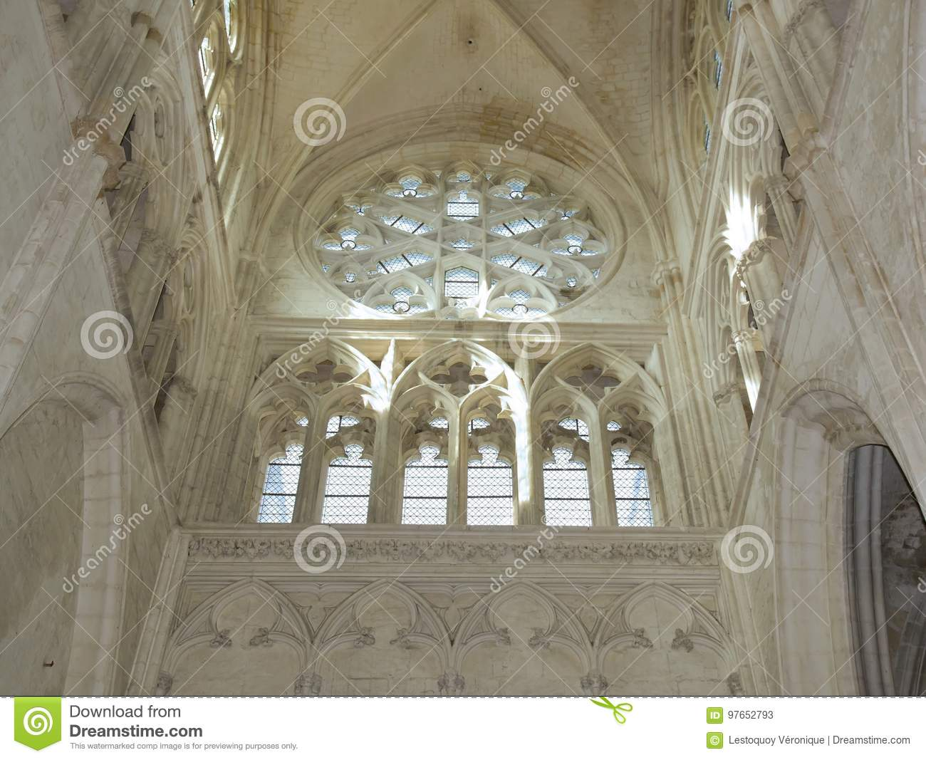 Architecte D'intérieur Auxerre Abbey Church Of St Germain In Auxerre Burgundy France Stock Image