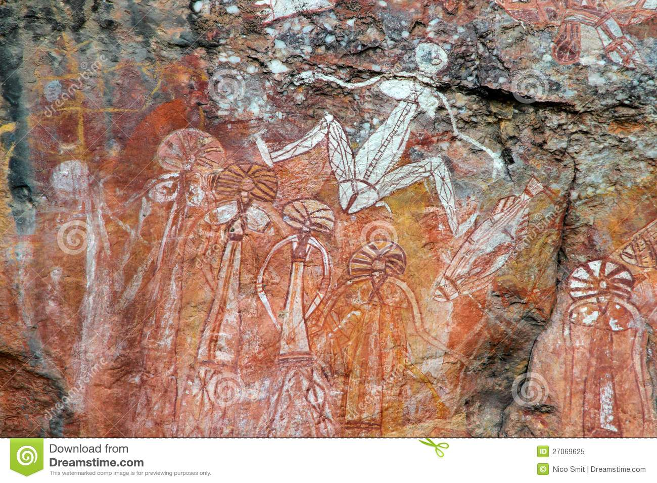 Lost White Card Nsw Aboriginal Rock Art Royalty Free Stock Photo Image 27069625